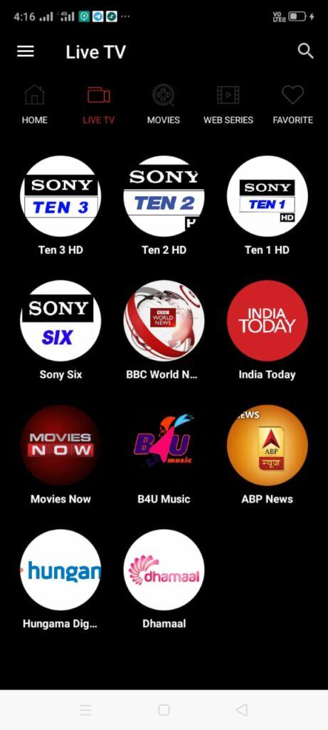 Host TV app